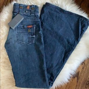 7 for All Mankind high waisted bell bottoms 26